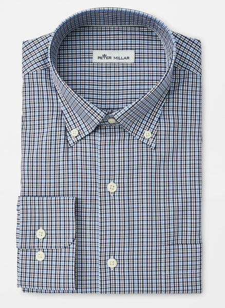 Crown Soft Stretch Middlebury Check Sport Shirt — Peter Millar