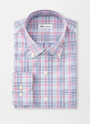 Crown Soft Manchester Multi-Gingham Sport Shirt — Peter Millar
