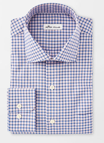 Crown Ease Stretch Salzburg Check Sport Shirt — Peter Millar
