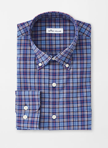Mountainside Half Moon Bay Tartan Sport Shirt — Peter Millar