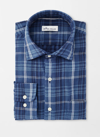 Mountainside Beach Park Double-Cloth Sport Shirt — Peter Millar