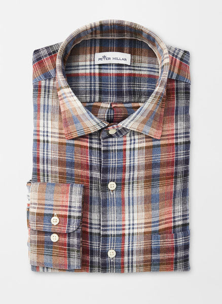 Mountainside Juno Dunes Multi-Plaid Sport Shirt — Peter Millar