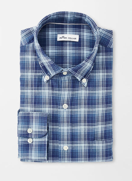 Mountainside Walter Peak Plaid Sport Shirt — Peter Millar