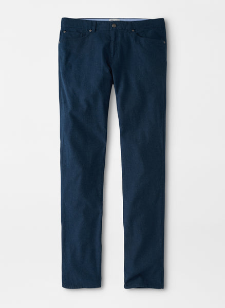Flat front view of the Peter Millar Mountainside Flannel 5 Pocket pant