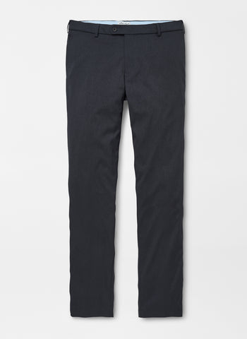 Flat lay-down view of the Peter Millar Highlands Performance Trouser in Charcoal color.