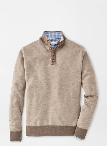 Birdseye Wool Button Mock Sweater – Peter Millar