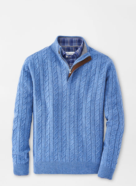 Wool Cable Quarter-Zip Sweater – Peter Millar