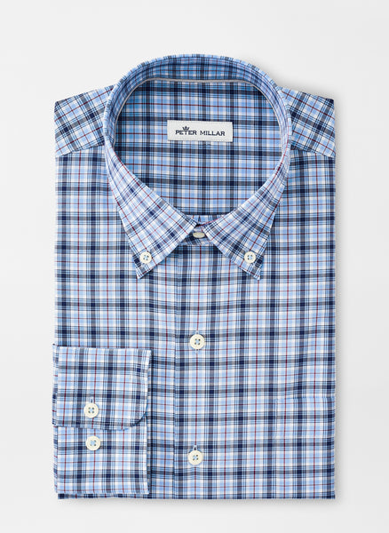 Neatly folded Crown Ease Douglas Sport Shirt from Peter Millar