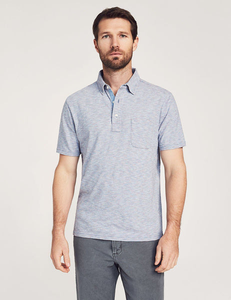 Short-Sleeve Red Sun Indigo Polo – Faherty