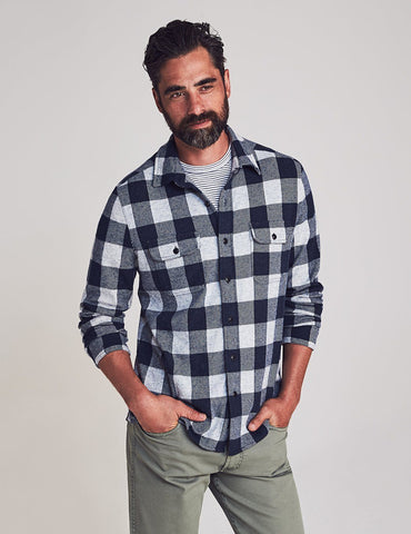 Arctic Buffalo Legend Sweater Shirt — Faherty