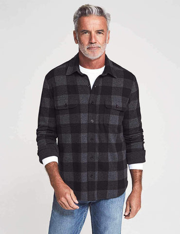 Charcoal Black Buffalo Legend Sweater Shirt – Faherty
