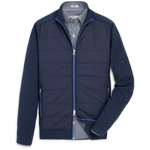 Peter Millar Full Zip Hybrid Sweater