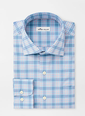 Barrett Cotton-Blend Multi Plaid Sport Shirt — Peter Millar