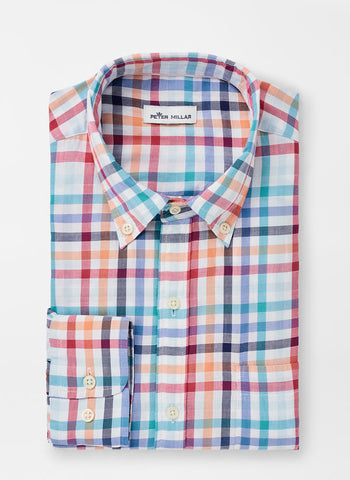 Galleon Multi-Check Sport Shirt — Peter Millar