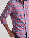 Seaview Ditch Plains Plaid Flannel Shirt — Faherty