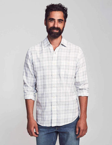 Grey Cream Plaid Slim-Fit Everyday Shirt – Faherty