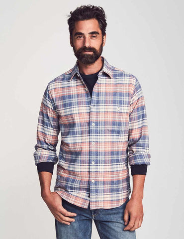 Autumn Plaid Seaview Flannel Shirt – Faherty