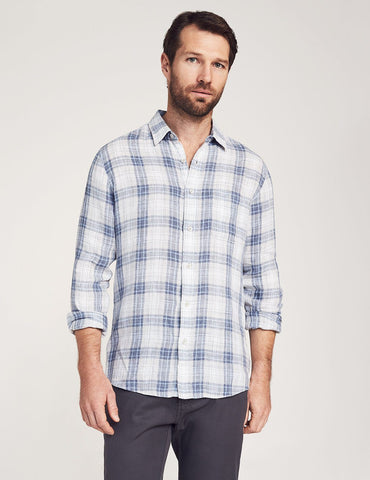 Harbor Town Plaid Linen Laguna Shirt – Faherty
