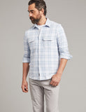 Steel Heather Plaid Legend Sweater Shirt – Faherty