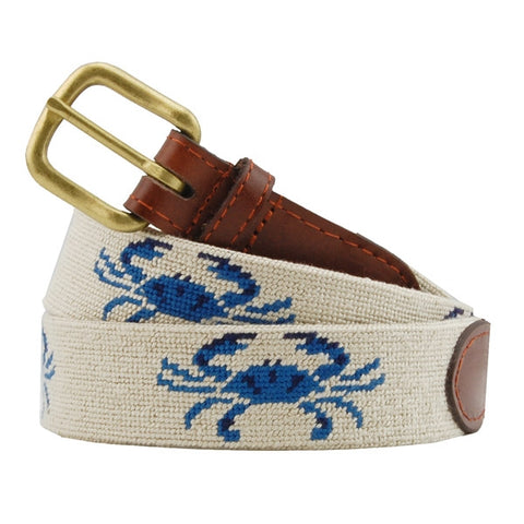 Blue Crab Needlepoint Belt – Smathers & Branson