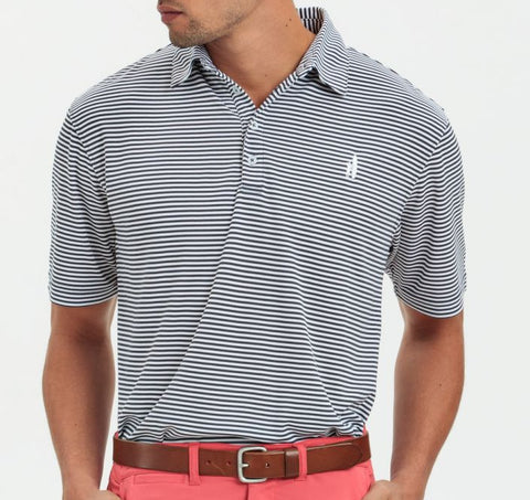 "Johnnie-O Striped ""Prep-formance"" Polo"