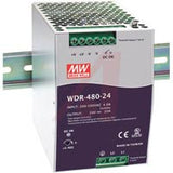 High Efficiency Power Supply; Input 180-550VAC/254-780VDC; Output 24VDC, 20A, 480W