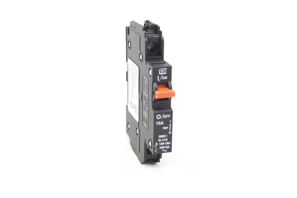 Circuit Breaker; 1 pole; 15 Amp Curve-1; UL489 for Branch Circuit Protection. 120/240VAC; 12 units