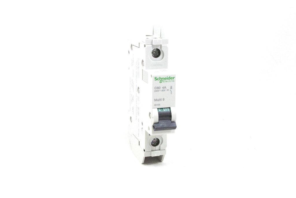 Circuit Breaker, Thermal Magnetic, 1 Pole, 4A; 60VDC, 120VAC; Din Rail mount