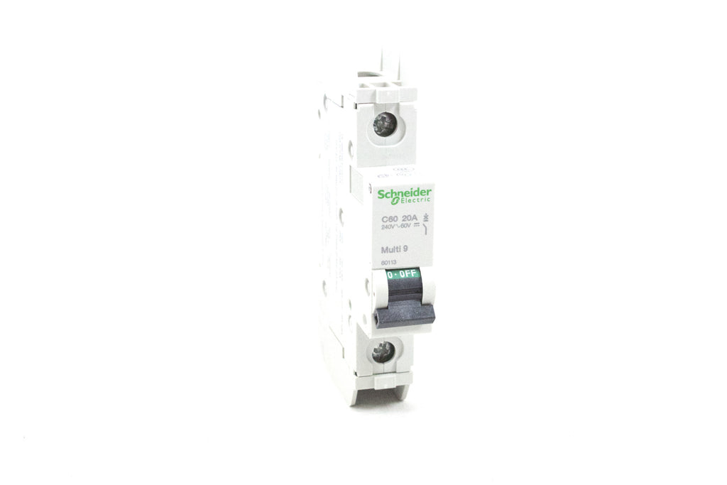 Miniature Circuit Breaker Multi 9 (C60), 20A, 1-Pole, 240 Vac, 60 Vdc, HACR Rated