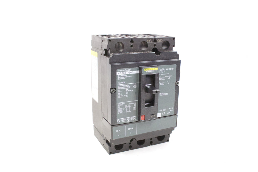 Circuit Breaker, Molded Case, H-Frame, 3-Pole 30A, 600VAC/250VDC, Line/Load