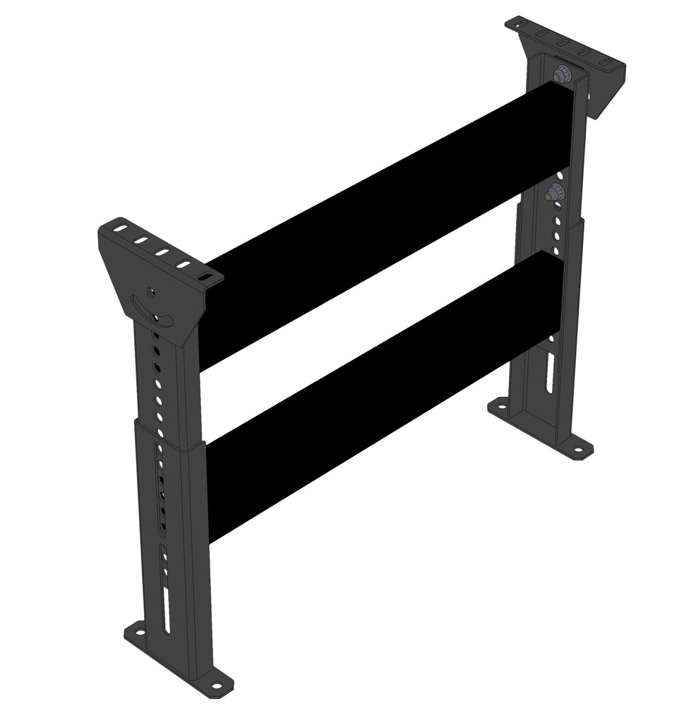 "HEAVY DUTY FLOOR SUPPORT, BOLTED CONSTRUCTION, 120"" - 166""  TOP OF SUPPORT"