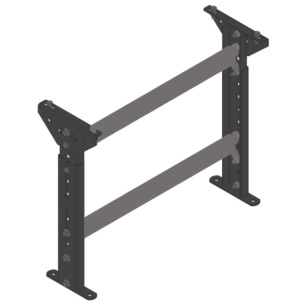 "STANDARD DUTY FLOOR SUPPORT, BOLTED CONSTRUCTION, 30.75"" - 41.5""  TOP OF SUPPORT"