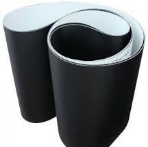 18IN BF, 24IN ZONE, FULL WIDTH BELT, 1 PLY BLACK PVC,  NEGATIVE PYRAMID