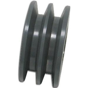2-1/4 OD DOUBLE GROOVED IDLER WHEEL, BLACK W/ ONE OBAND