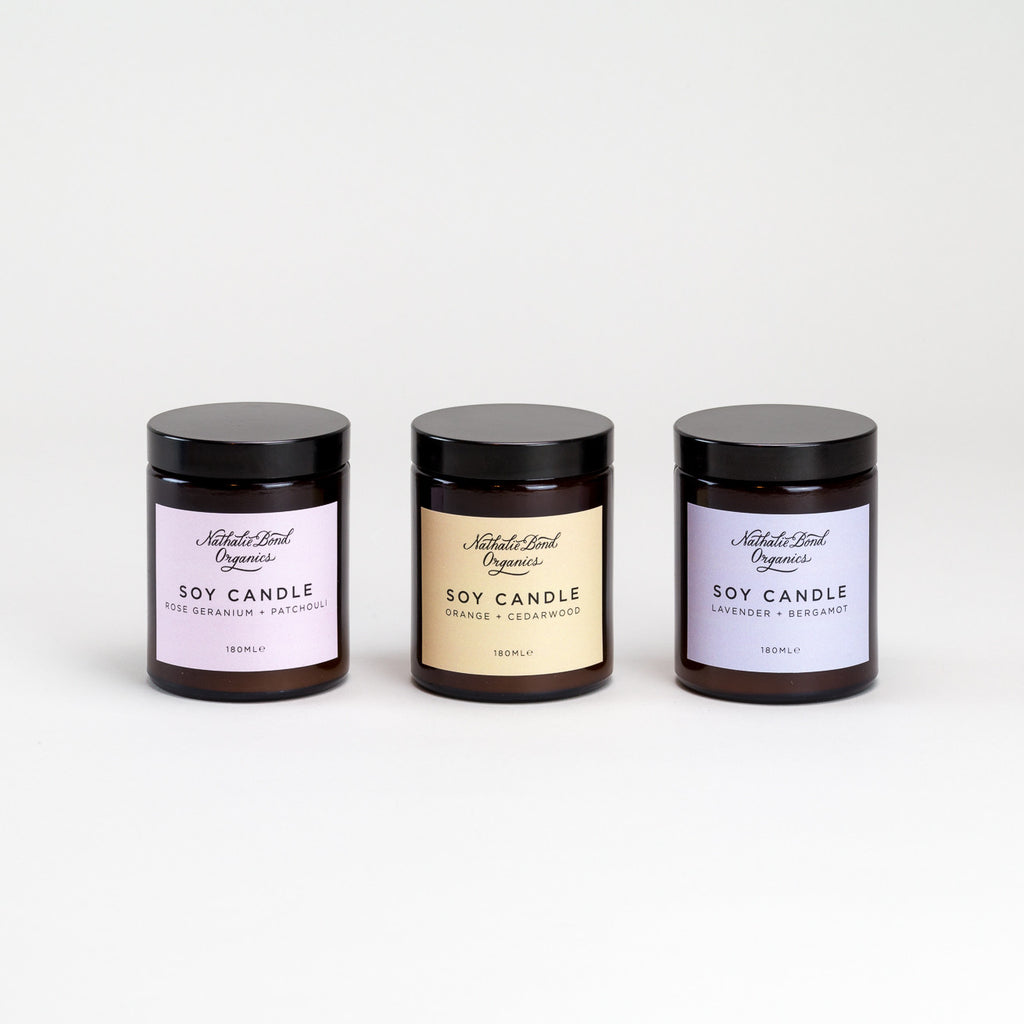 Soy Wax Candles by Nathalie Bond Organics | Natural Organic Skincare at Labrador