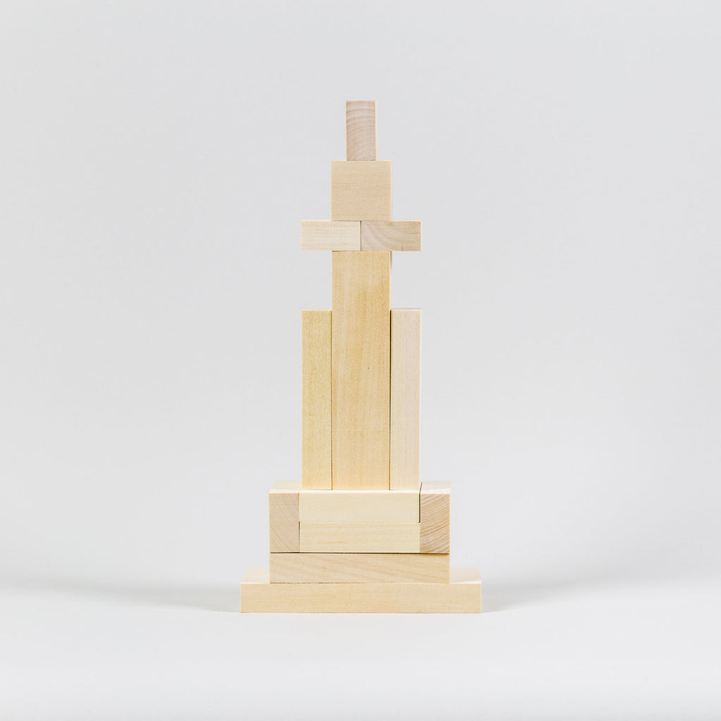 Archiblocks City Construction by Cinqpoints | Wooden Toys and Playsets for Kids at Labrador (angled)