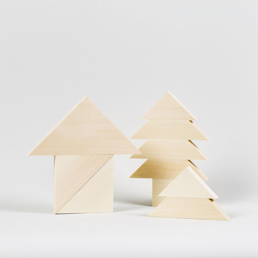 Landscape Tangram Archiblocks by Cinqpoints | Wooden Toys and Playsets for Kids at Labrador