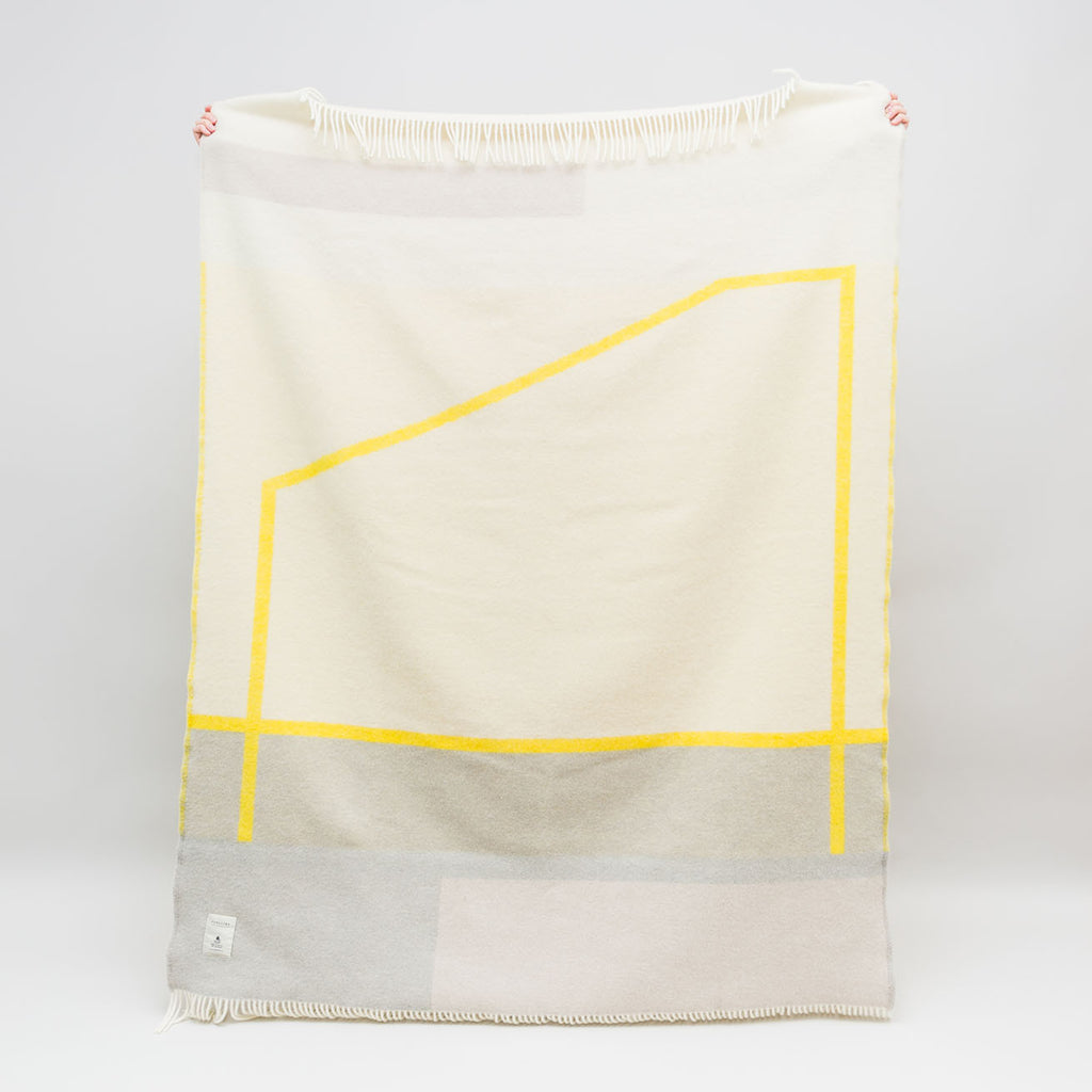 Pure wool blanket Popup in yellow by Forestry Wool | Textiles for the home at Labrador