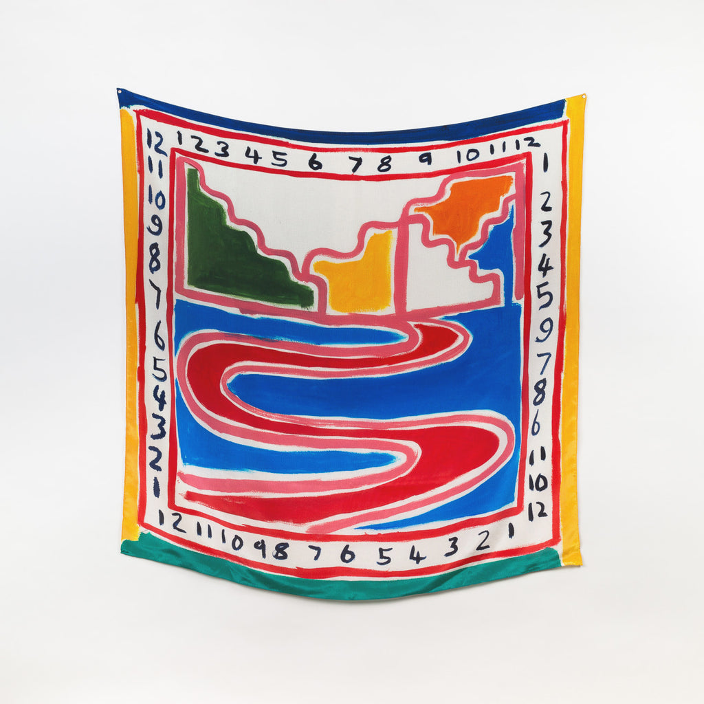 Another Century – Artist Limited Edition Silk Scarf by Phil Root | Homeware and accessories by Labrador
