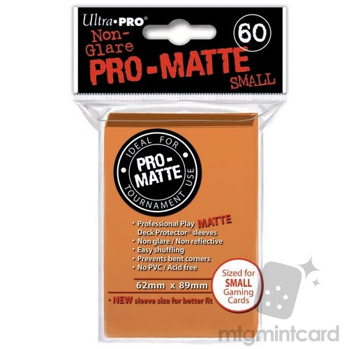 Small Non-Glare Pro-Matte 60ct Orange