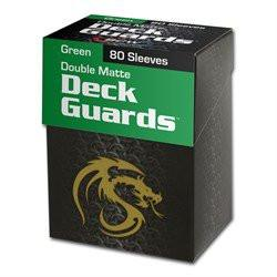 Deck Guard Colored Card Sleeves w/Box, Double Matte 80ct Green