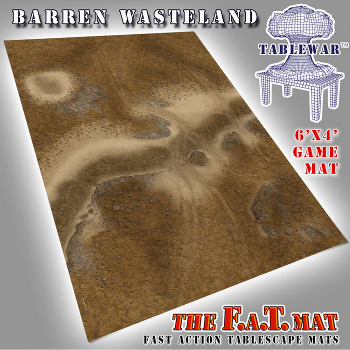Tablewar 6x4 'Barren Wasteland' F.A.T. Mat Gaming Mat