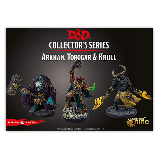 Dungeons and Dragons: Baldur`s Gate - Descent into Avernus Collector`s Series Miniatures - Arkhan, Torogar, and Krull