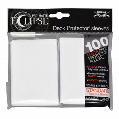 Pro-Matte Eclipse 2.0 Standard Deck Protector Sleeves: Arctic White (100)