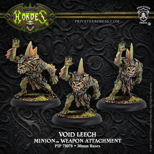 Hordes: Minions Void Leech Weapon Attachment (White Metal)