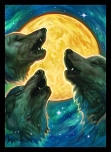 Legion Standard Card Sleeves Wolf Moon Sleeves 50ct