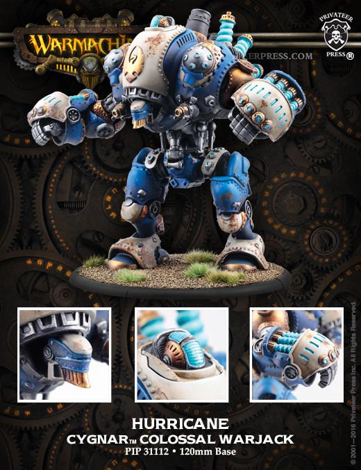 Warmachine Cygnar Hurricane Stormwall and Lightning Pods Colossal and Solos