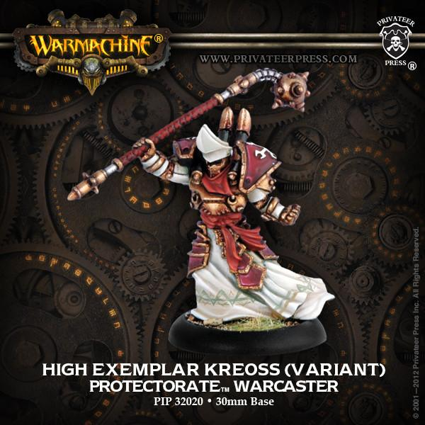 Warmachine Protectorate of Menoth High Exemplar Kreoss Variant Warcaster
