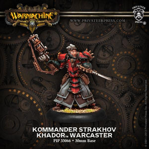 Warmachine Khador Assault Kommander Strakhov Warcaster