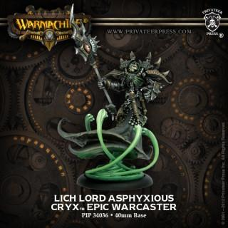 Warmachine Cryx Lich Lord Asphyxious Epic Warcaster